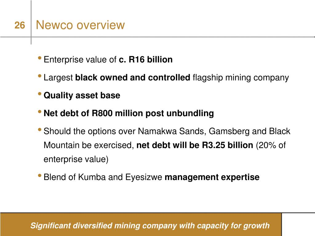Newco overview