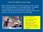 how the body loses heat11