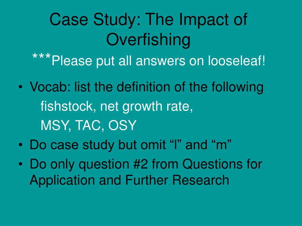Case Study: The Impact of Overfishing