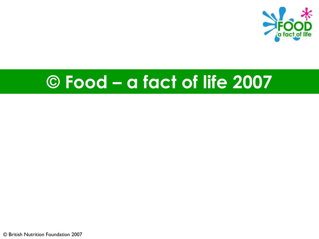 © Food – a fact of life 2007