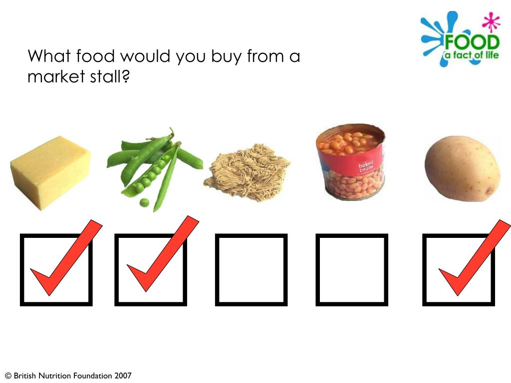What food would you buy from a market stall?