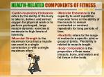 health related components of fitness
