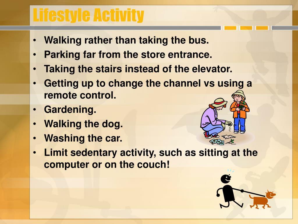 Lifestyle Activity