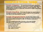 principles of physical training