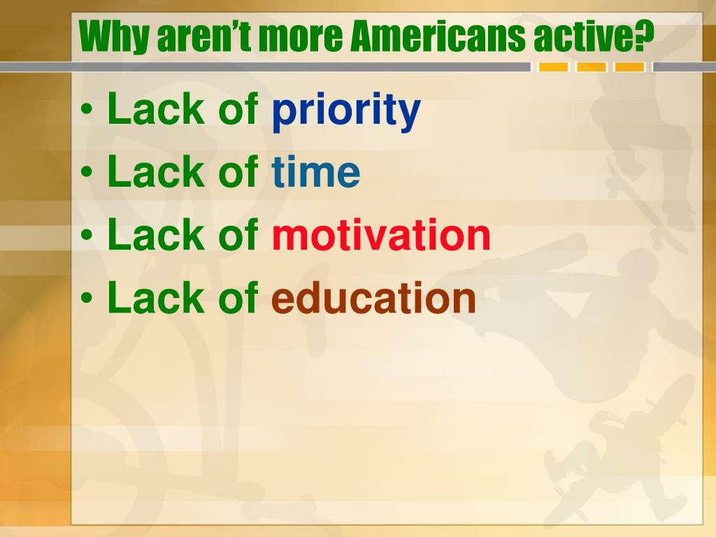 Why aren't more Americans active?