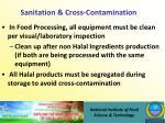 sanitation cross contamination