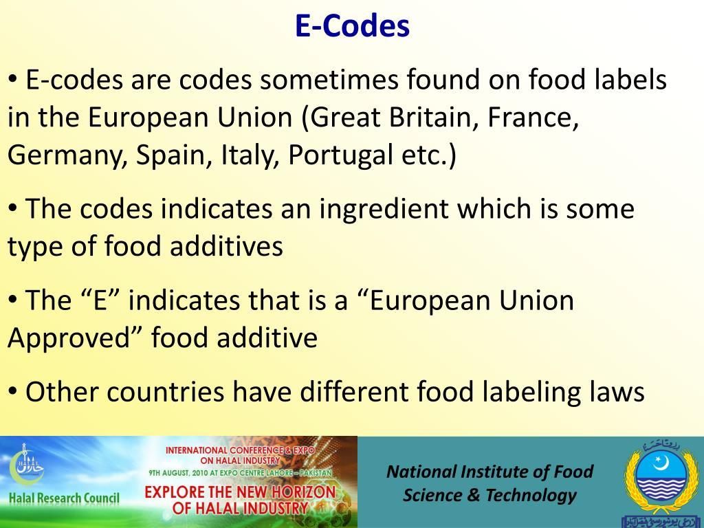 E-Codes