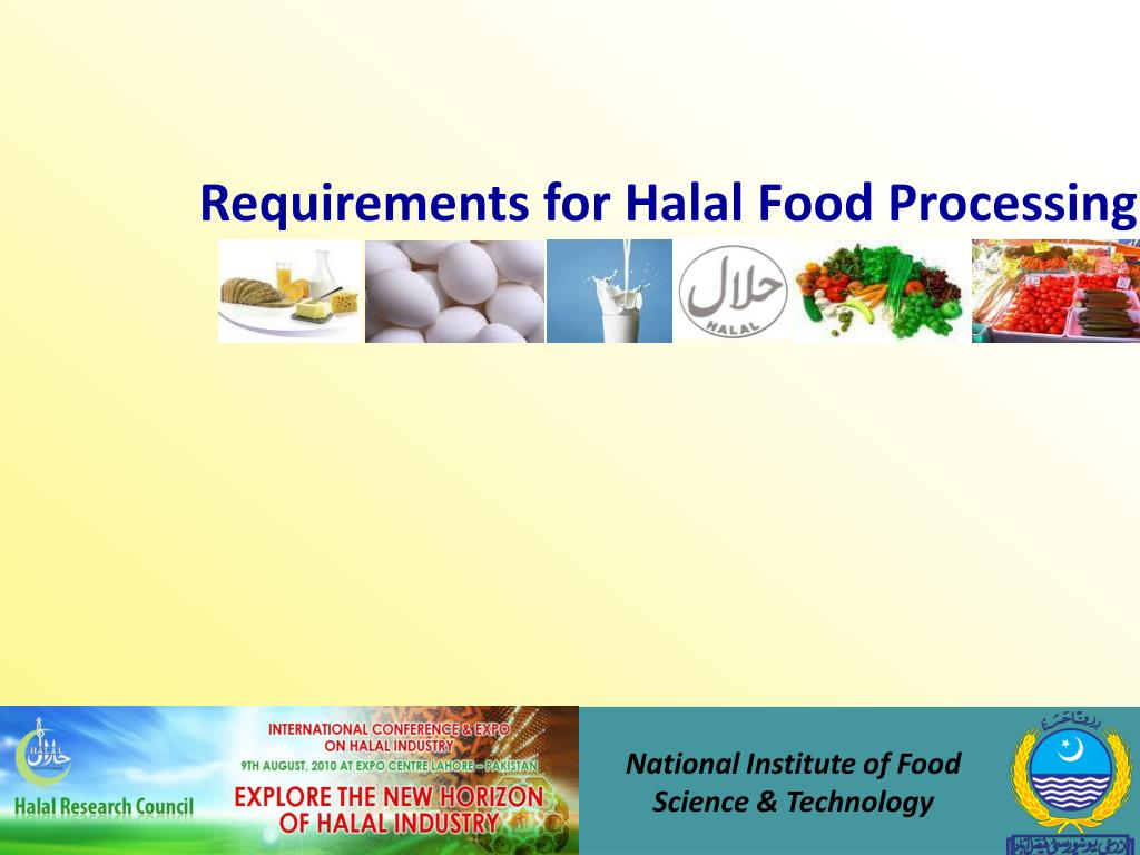 Requirements for Halal Food Processing