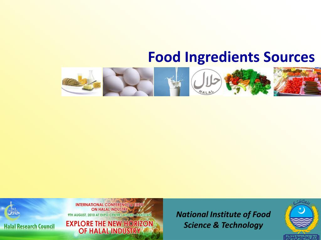 Food Ingredients Sources
