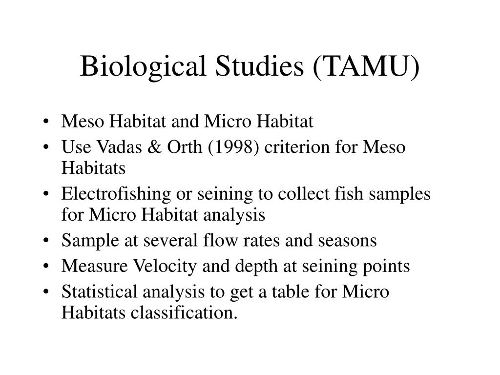 Biological Studies (TAMU)
