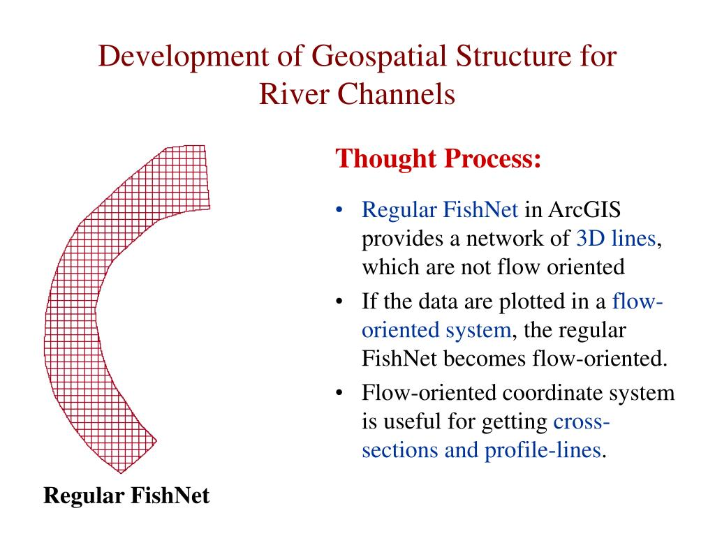 Development of Geospatial Structure for River Channels