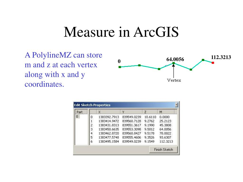 Measure in ArcGIS