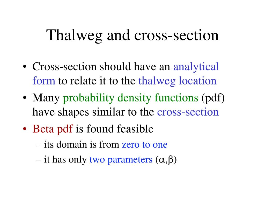Thalweg and cross-section