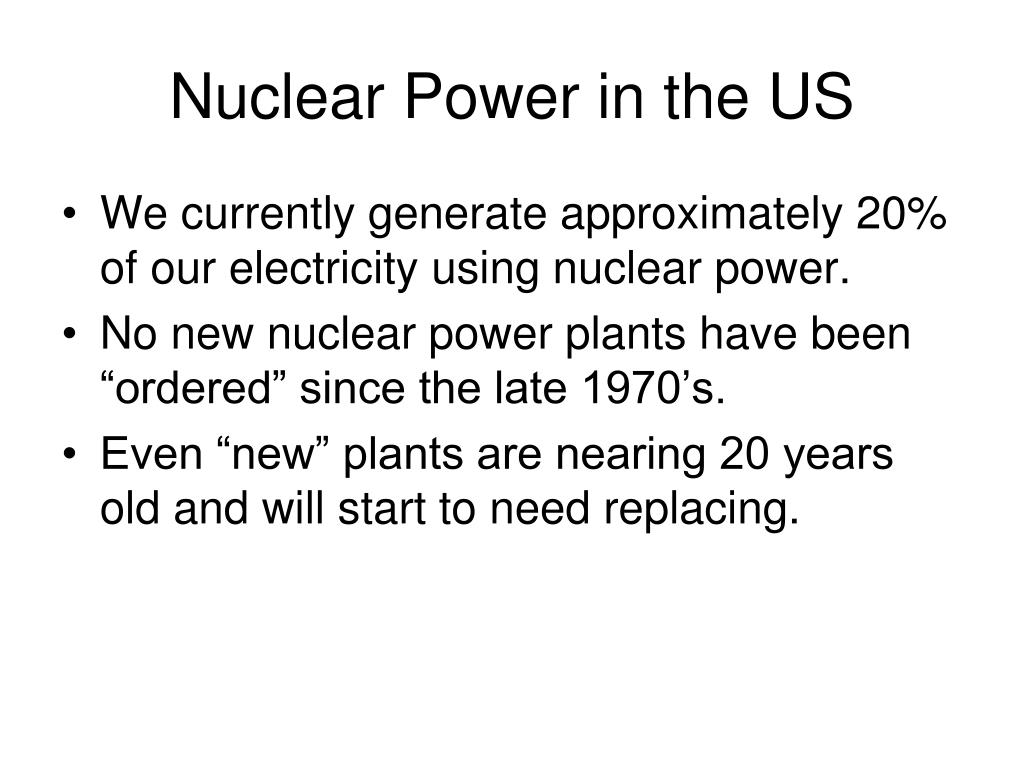 Nuclear Power in the US