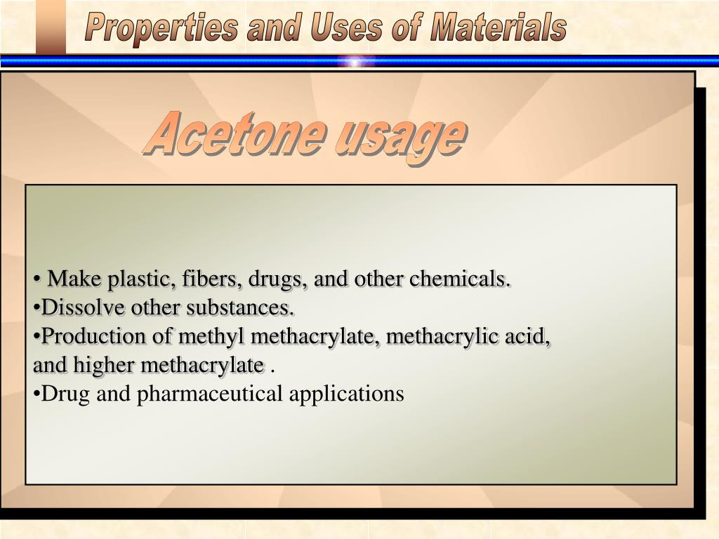 Properties and Uses of Materials
