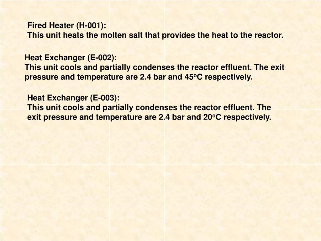 Fired Heater (H-001):