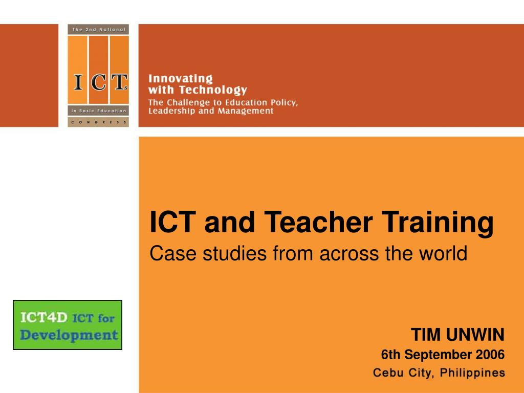 ICT and Teacher Training