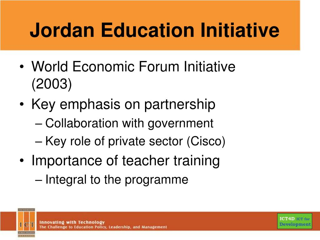 Jordan Education Initiative