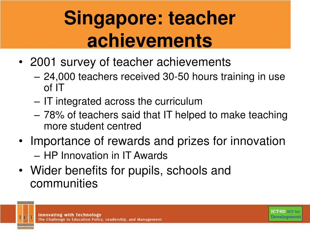 Singapore: teacher achievements