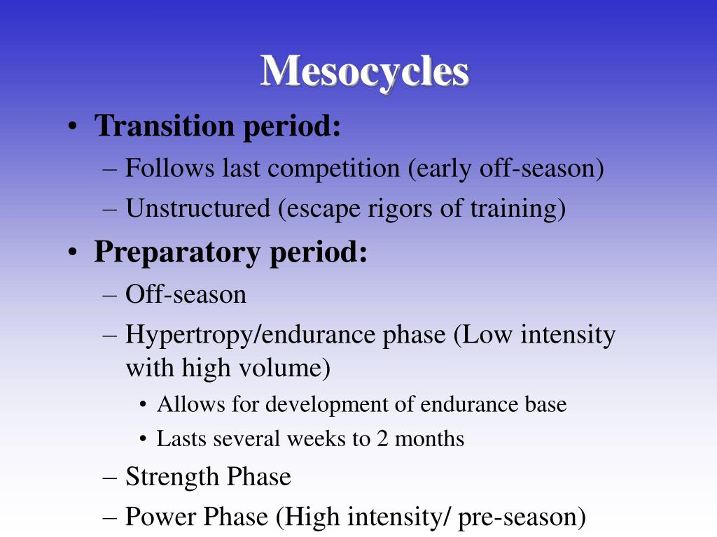 Mesocycles