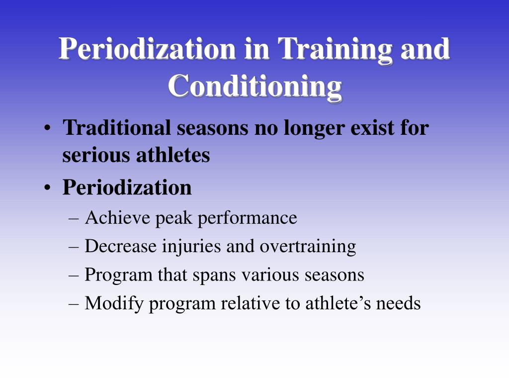 Periodization in Training and Conditioning