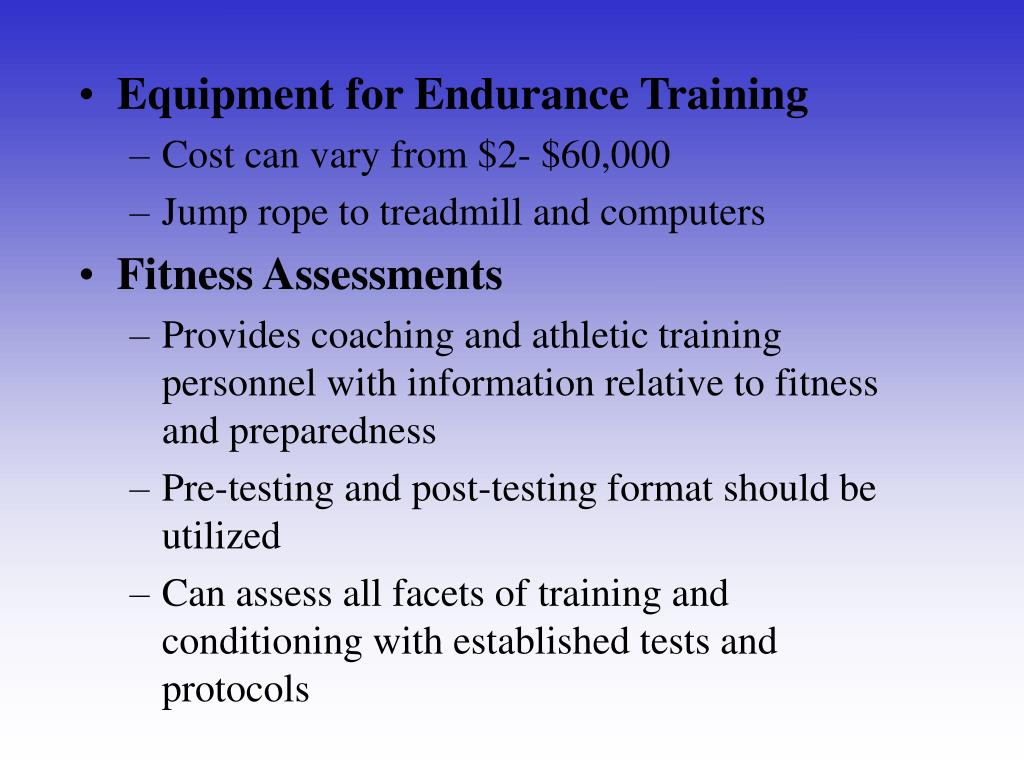 Equipment for Endurance Training