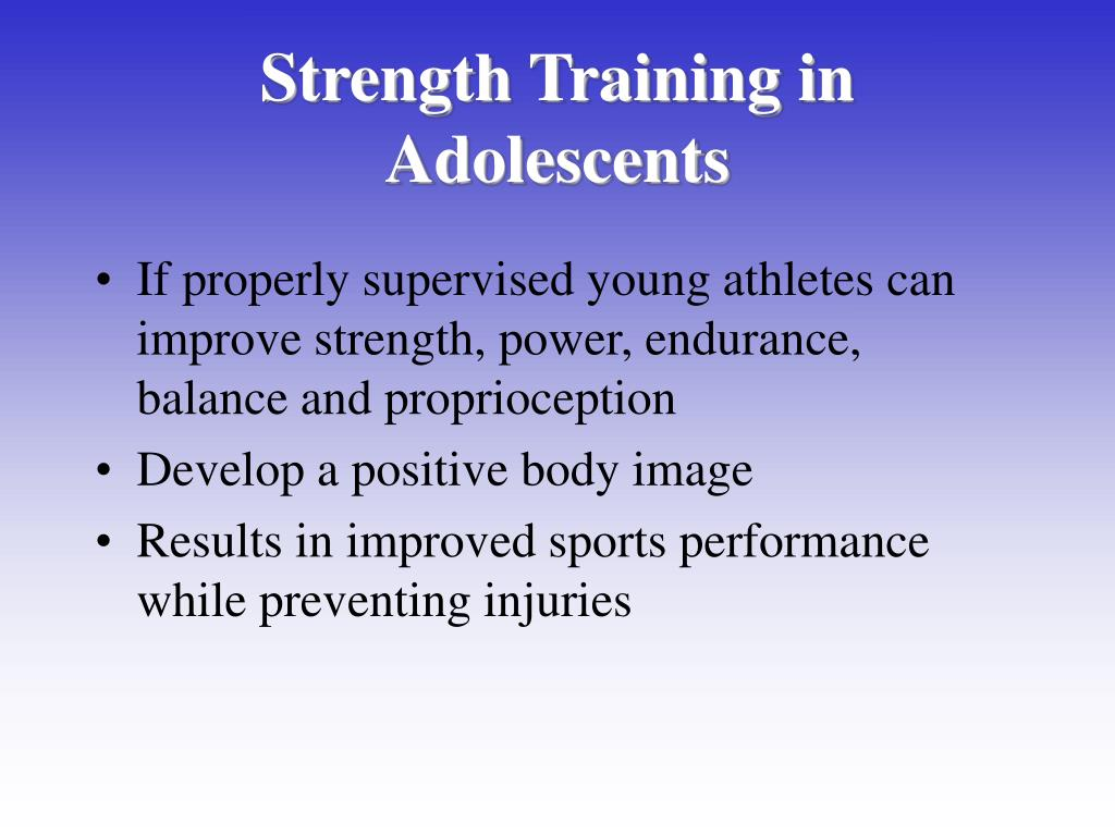 Strength Training in Adolescents