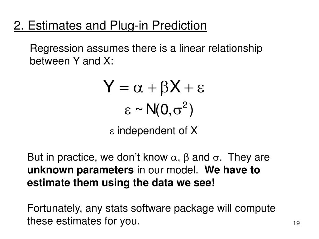 2. Estimates and Plug-in Prediction