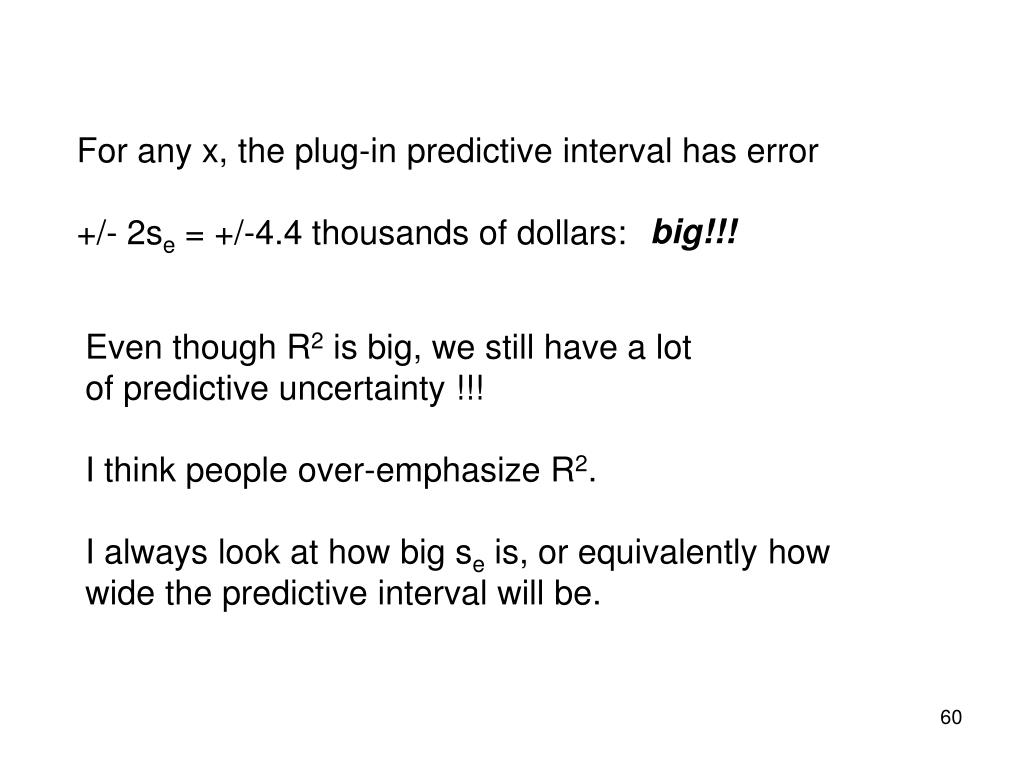 For any x, the plug-in predictive interval has error