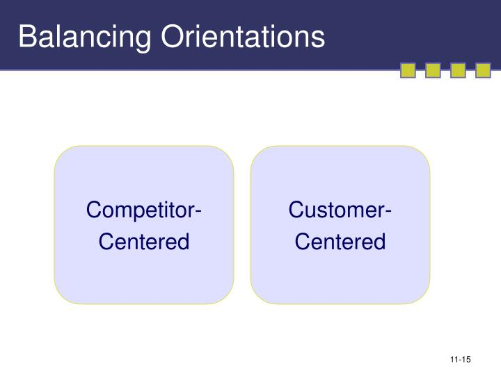 Balancing Orientations