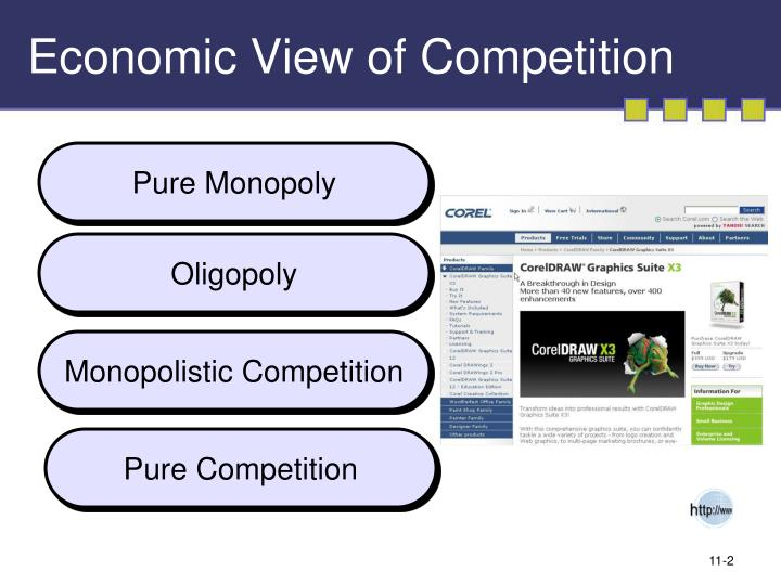 Economic view of competition