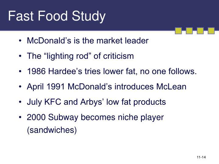 Fast Food Study