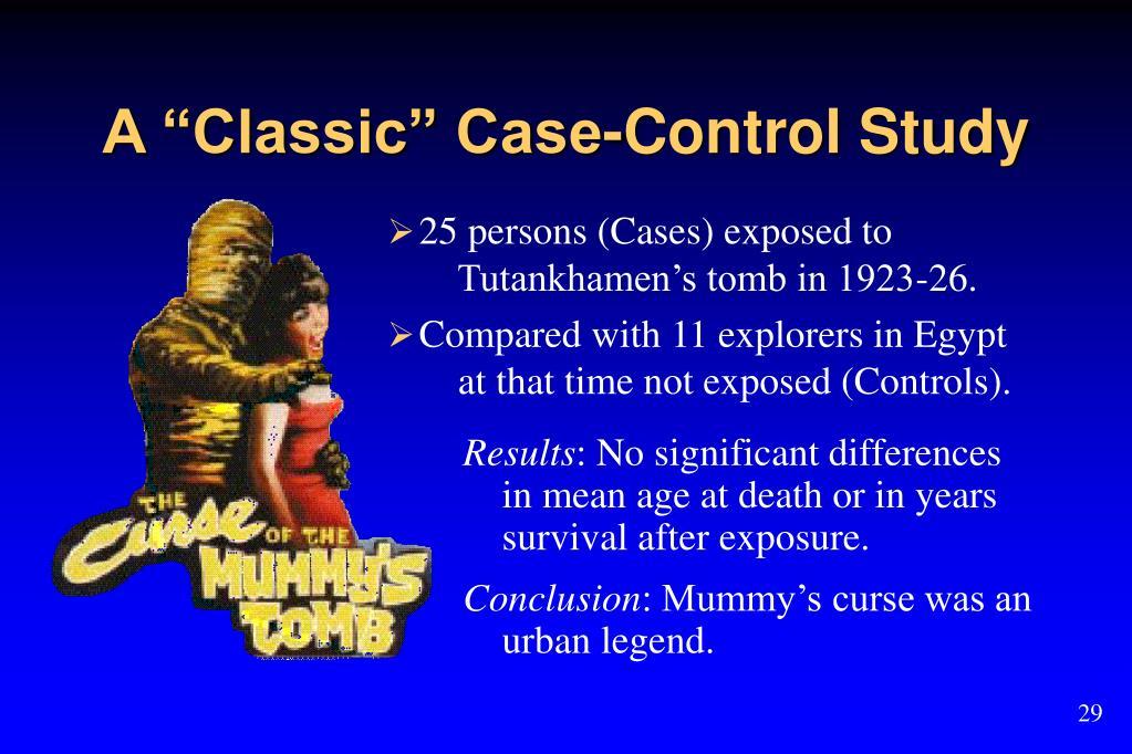 "A ""Classic"" Case-Control Study"