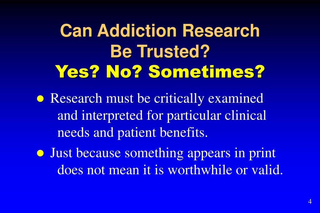 Can Addiction Research