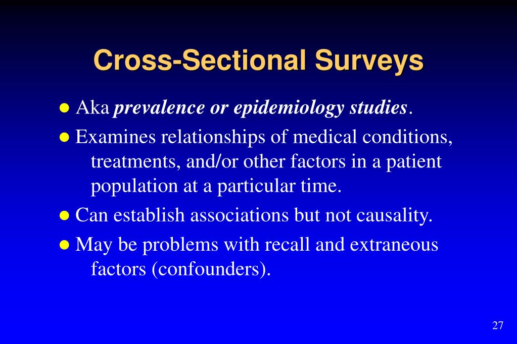 Cross-Sectional Surveys