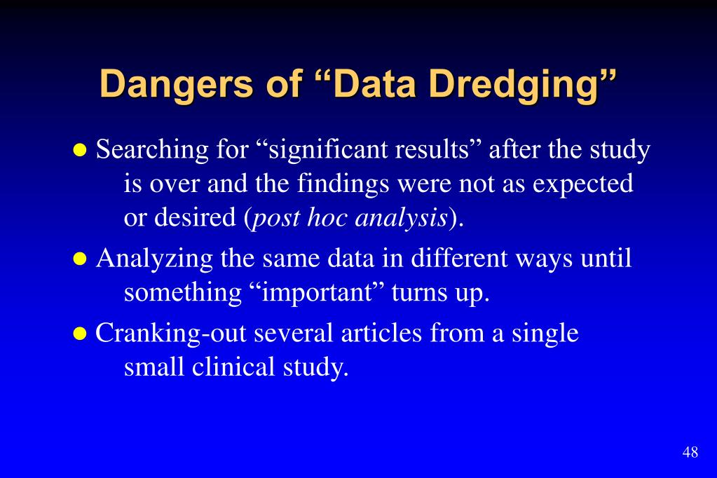 "Dangers of ""Data Dredging"""