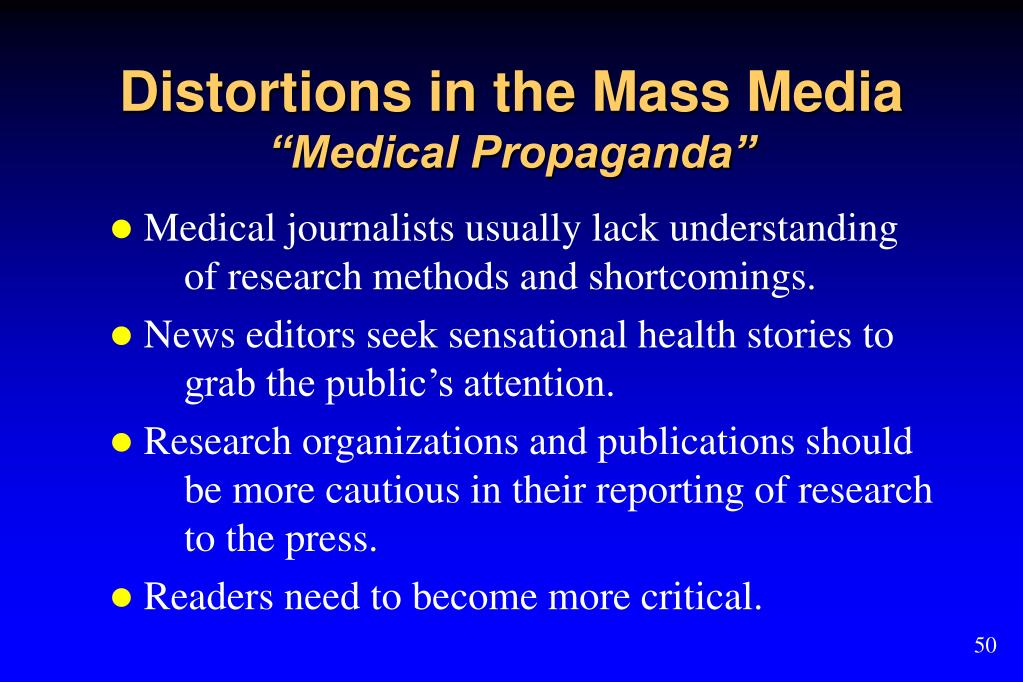 Distortions in the Mass Media
