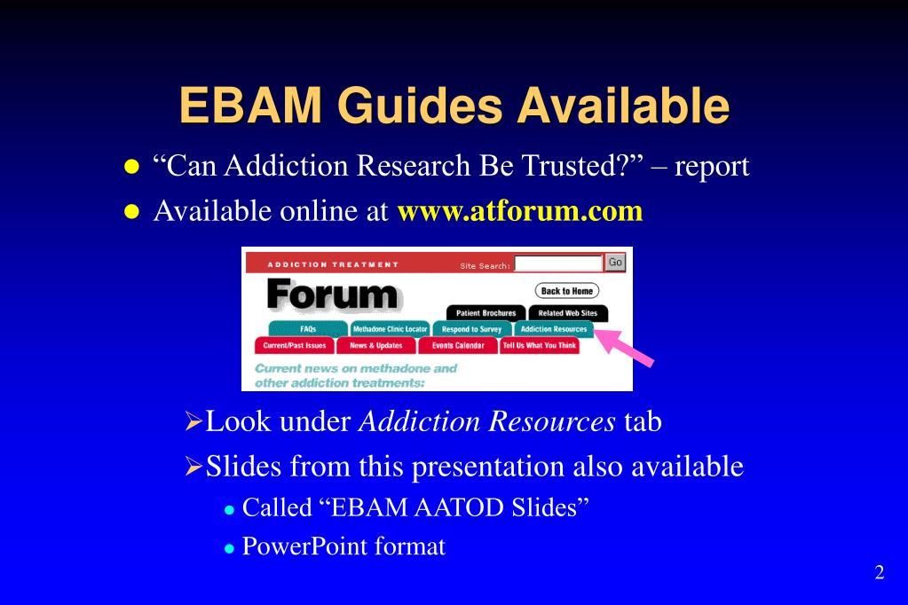 EBAM Guides Available