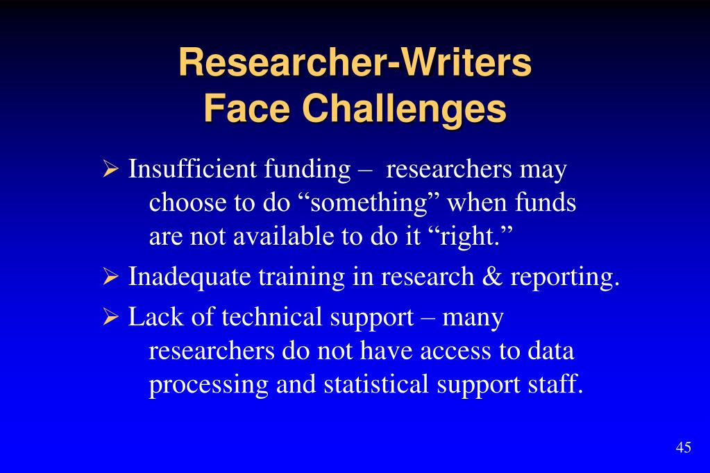 Researcher-Writers