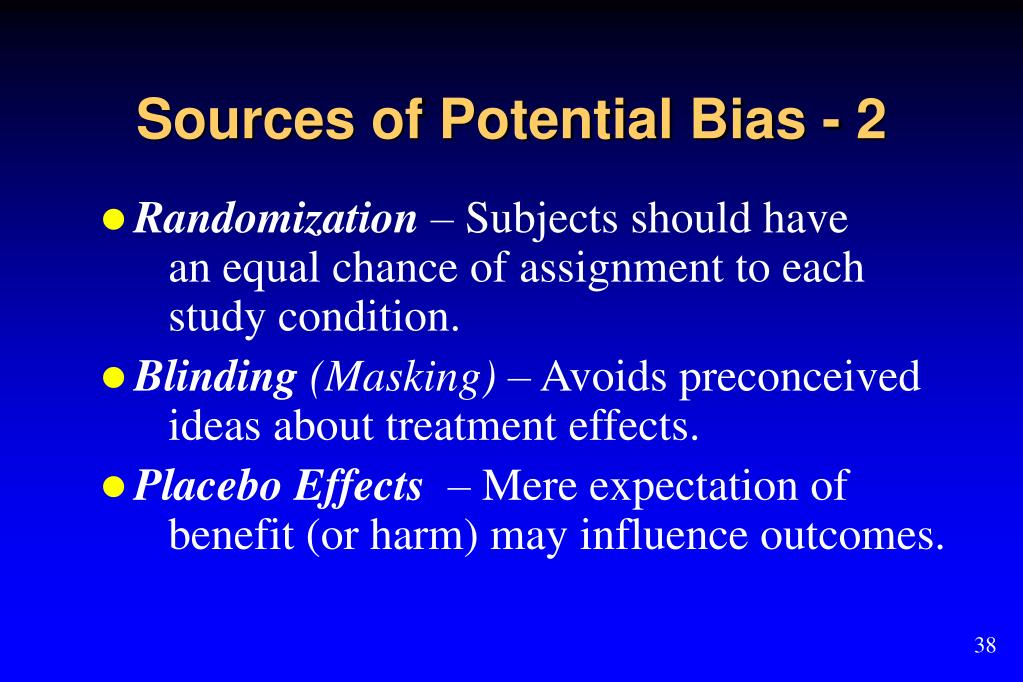 Sources of Potential Bias - 2