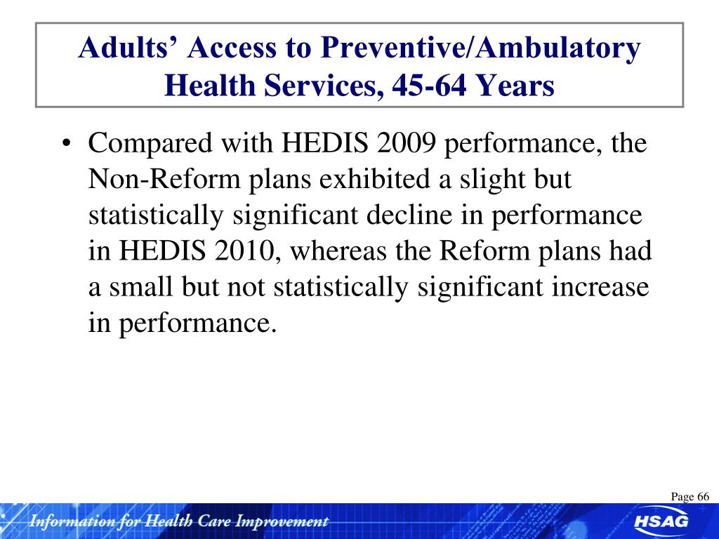 Adults' Access to Preventive/Ambulatory Health Services, 45-64 Years