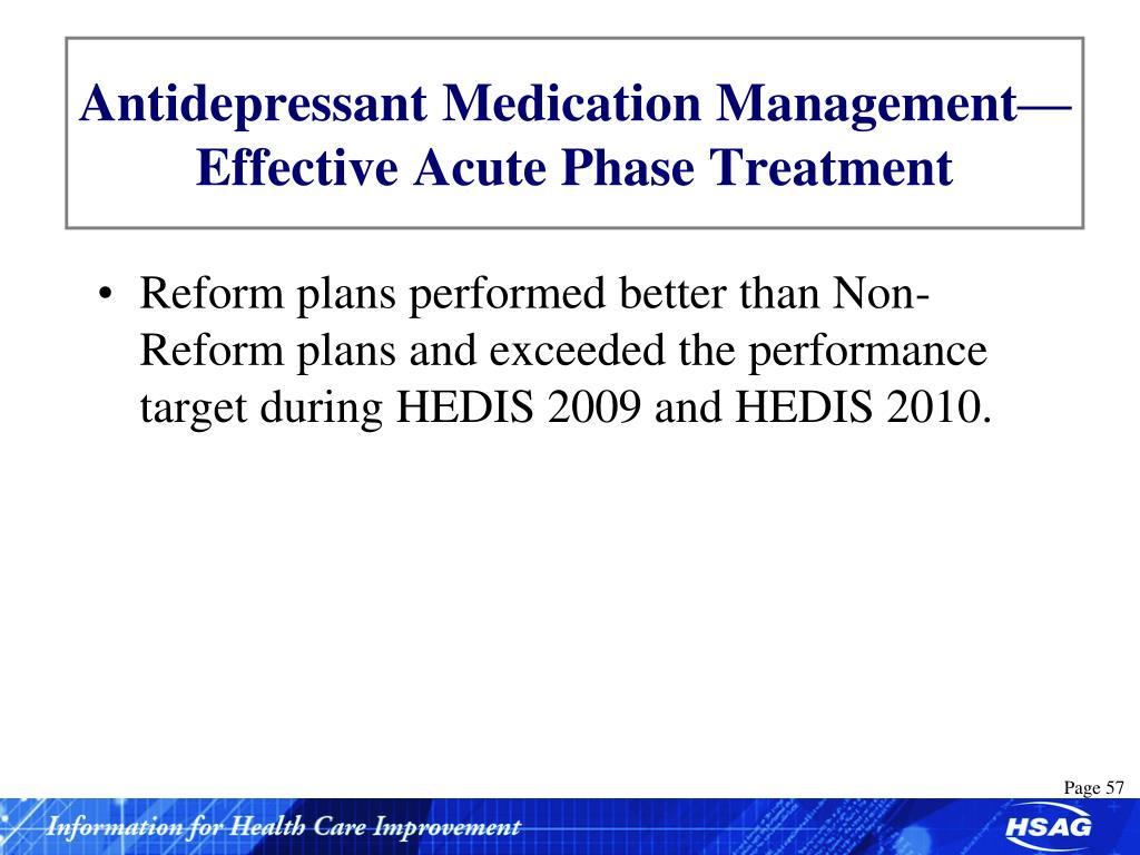 Antidepressant Medication Management—Effective Acute Phase Treatment