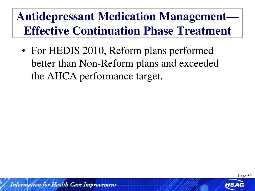 Antidepressant Medication Management— Effective Continuation Phase Treatment