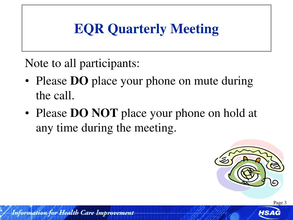 EQR Quarterly Meeting