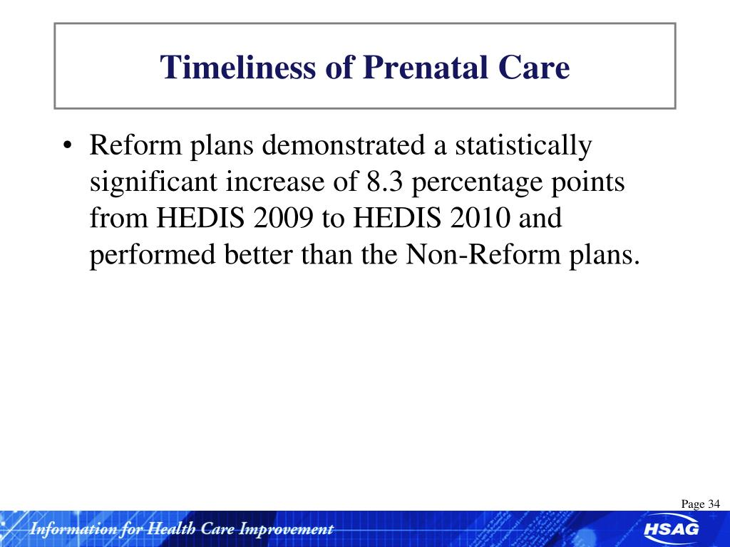 Timeliness of Prenatal Care