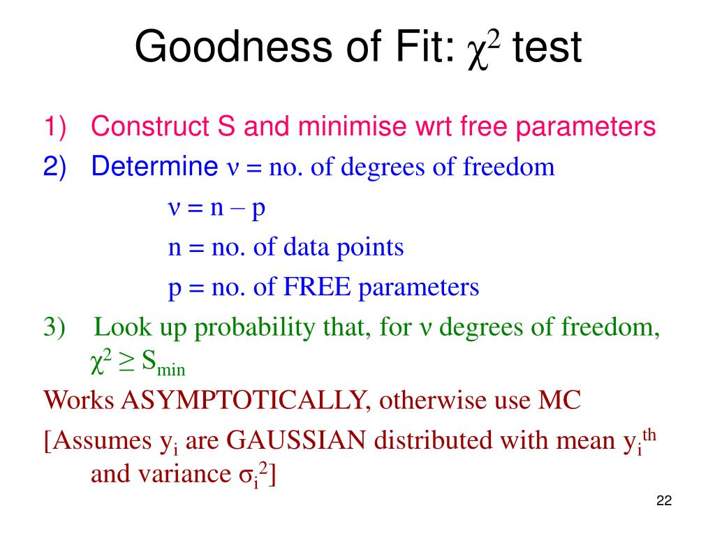 Goodness of Fit: