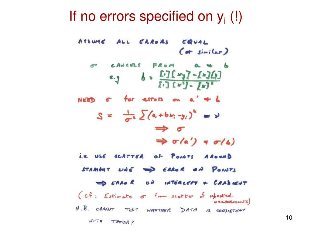 If no errors specified on y