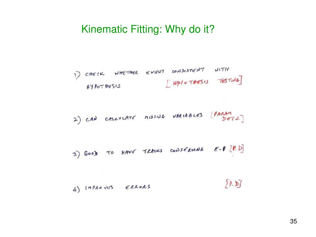 Kinematic Fitting: Why do it?