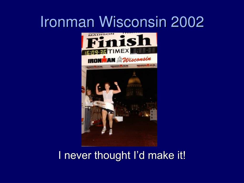 Ironman Wisconsin 2002