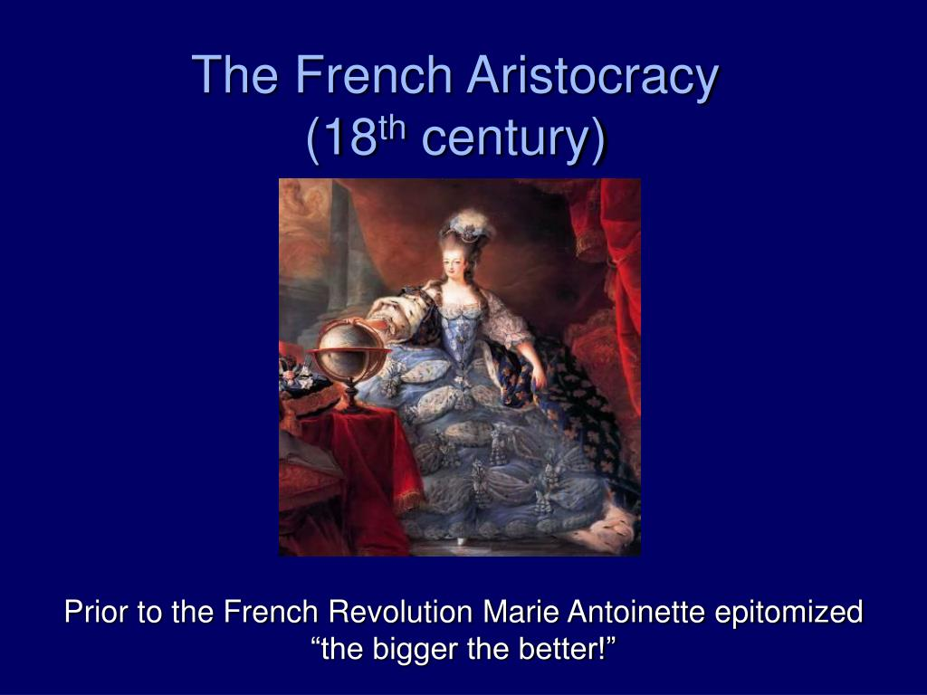 The French Aristocracy